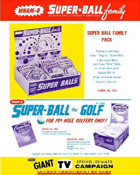 Super Ball � Family Portrait - - Wham-O � Catalog (1969)